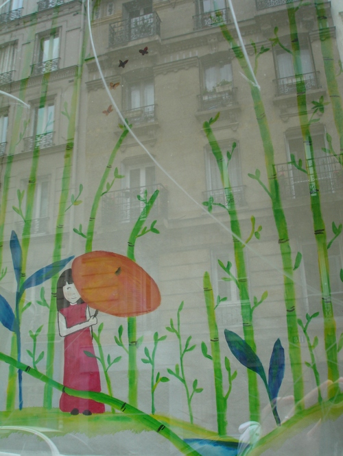 Effets de vitrine (dessins par Carole G.)